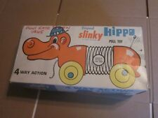 1965 ORIGINAL SLINKY HIPPO PULL TOY BOXED JAMES INDUSTRIES #470
