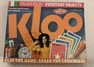KLOO Italian Pack Cards, Everyday Objects