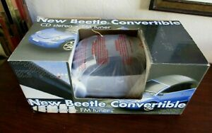 VW VOLKSWAGEN BEETLE Silver Convertible CD Stereo + FM Radio Tuner Player, NEW