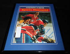 Jacques Laperriere Signed Framed 1971 Sports Illustrated Magazine Cover Canadien