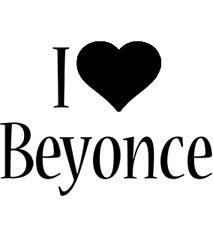 Decal Vinyl Truck Car Sticker - Music Rap Bands I Heart / Love Beyonce