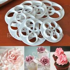 Fondant Mold Cake Sugarcraft Rose Flower Decorating Cookie Gum Paste Cutter Tool