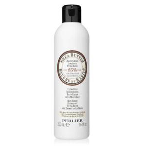 Perlier Shea Butter Ultra-Rich Moisturizing Bath Cream with While Lily 8.4 fl oz