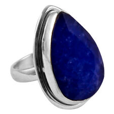 Blue Sapphire Solid 925 Sterling Silver Jewelry Ring S.7 AR-6065