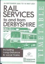 Rail timetables Derbyshire Matlock Chesterfield 2000 Class 150 DMU HST Central T