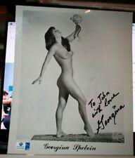Original Autographed Personalized Photograph Georgina Spelvin and snake with COA