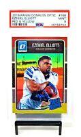 2016 Optic RED YELLOW Refractor Cowboys EZEKIEL ELLIOTT Rookie Card PSA 9 MINT
