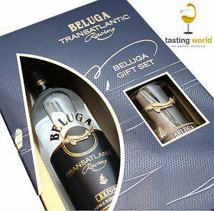 Geschenkset -  Beluga Transatlantic Racing Noble Russian Vodka mit Glas / Wodka