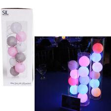 Florero de vidrio de 32 cm con LED Luz Lámpara Casa Decoración Guirnalda Bolas Centro De Mesa Moderna