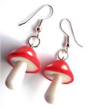 Gorgeous Handmade Toadstool Mushroom Whimsical Earrings with Gift Bag