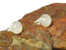 MOONSTONE  Sterling Silver 925 Gemstone Earrings / STUDS - 8 mm - Gift Boxed