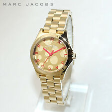 Marc Jacobs Small Henry Gold Tone Macintosh Red Watch MBM3270