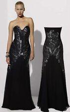 Karen Millen BNWT DK138 Black Beaded Cocktail Ballgown Maxi Long Prom Dress 12UK