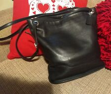 COACH LEGACY NY SHOPPER BLACK LEATHER DOUBLE STRAP SILVER GROMMET TOTE BAG #4242