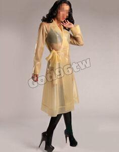 100% Latex Rubber Gummi Jacket Jacke Kleid 0,8mm Mantel Coat Catsuit Ganzanzug