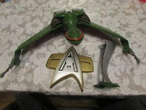 Star trek playmates Klingon bird of prey lights sounds model