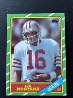 🔥GRADE READY🔥 1986 Topps Football JOE MONTANA, San Francisco 49ers HOF LEGEND