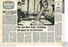 Coupure de presse Clipping 1975 (2 pages) Jean-Pierre Adam