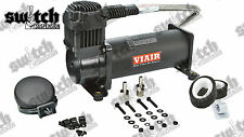 Viair 444c Black 200 PSI Single Air Compressor With Remote Filter Mounting Kit
