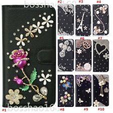 Women Bling wallet leather Phone Case for LG Harmony 4 /LG Premier Pro Plus 2020