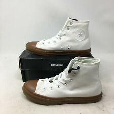 NEW Converse CTAS Hi Casual Sneakers Shoes Lace Up Gum Sole Canvas White Youth 3