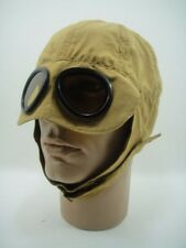 HELMET CAP & GOGGLES Car Motorcycle Aviator Vintage HOT RAT ROD BRASS ERA WINNER