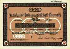 Auto Union 1932 Chemnitz Zschopau Zwickau DKW Ingolstadt Audi Neckarsulm NSU 100