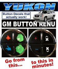 2007-2013 GMC YUKON AC BUTTON DECALS GM CLIMATE CONTROL REPAIR SET WORN FADED