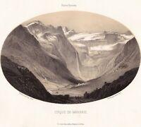 Cirque De Gavarnie Hautes Pyrénées Lithographie Gorse 1850 Occitanie