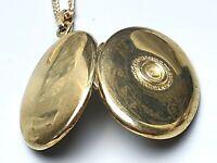 935 Silber Medaillon punziert, vergoldet & 925 Silberkette vergoldet punz. /A690