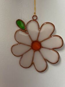 Single Glass Flower Sun Catcher