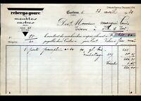 """CASTRES (81) EBENISTERIE / MEUBLES """"REBERGA - GOURC""""  en 1931"""