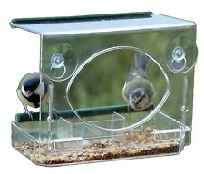 Window Bird Table Feeder Suction Fit Clear -FREE RSPCA Sample Bird Seed Pack
