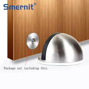 Stainless Steel Rubber Magnetic Door Stopper Non Punching Sticker Hidden Door rr