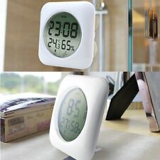 LCD NEW Waterproof Shower Bathroom Wall Clock Temperature Thermometer Hygrometer