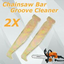 2pcs Chainsaw Chain Saw Guide Bar Rail Groove Cleaner Cleaning Tool Universal