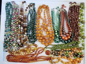 AWESOME Large Vintage Strand Necklace LOT Coro Western Germany Japan