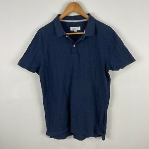 Country Road Mens Polo Shirt Small Blue Short Sleeve Collared 6.21