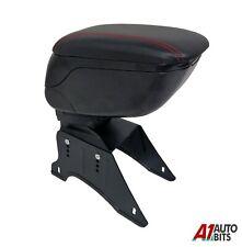 Universal Car Armrest Arm Rest Centre Console Red Stich leatherette Soft Cushion