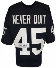 "Rudy Ruettiger Signed ""Never Quit"" Notre Dame Jersey Inscribed (JSA COA)"