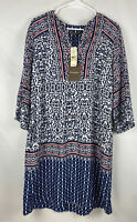Tommy Bahama Kamari Damask Short Ocean Deep Womens Dress Size M NWT $168