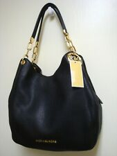 NEW MICHAEL KORS LILLIE BLACK LARGE LEATHER PURSE OR TOTE