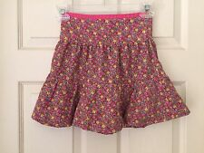 Ralph Lauren $50 girls Adorable! pink multi Spring floral ruffle tiered skirt 5