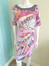 Per Una Mock Wrap Dress Blue Pink Purple Size 14 Wedding Cruise Holiday Stretch