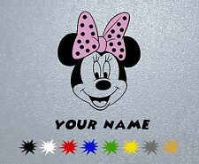 STICKER PEGATINA DECAL VINYL Minnie Mouse Personalized