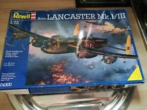 BNITB REVELL AVRO LANCASTER MK.I/III MODEL KIT 1:72 BRITISH AIRCRAFT/RAF 99P