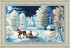 """Bead Embroidery kit GOLDEN HANDS P-010 - """"Winter night"""""""