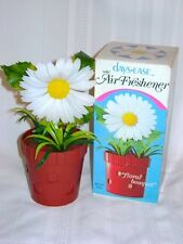 Vintage 1970s 1980s Days Ease Floral Bouquet Daisy Flower in Pot Air Freshener