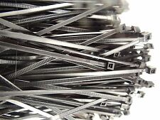 """CABLE TIES WIRE TIES BLACK NYLON 7"""" UV RESISTANT PK OF 100 NEW MADE IN USA 50LB"""