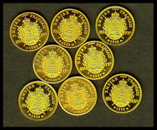 ★★★★ COLLECTION COMPLETE DES 8 MINIS DES 100 FRANCS NAPOLEON TETE NUE ★★★★ FDC